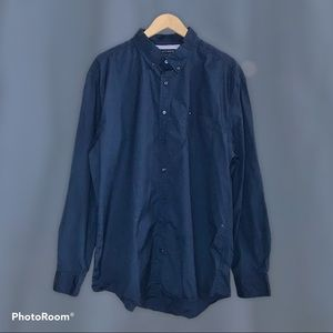 Tommy Hilfiger Men's 80's 2-Ply Button-Down Shirt